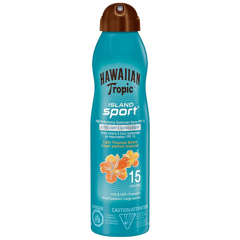 Hawaiian Tropic Island Sport Sunscreen Spray - SPF15 - 170g