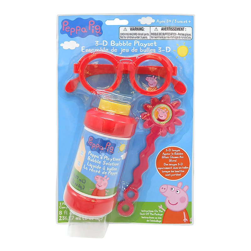 Peppa Pig 3D Glasses and Bubbles