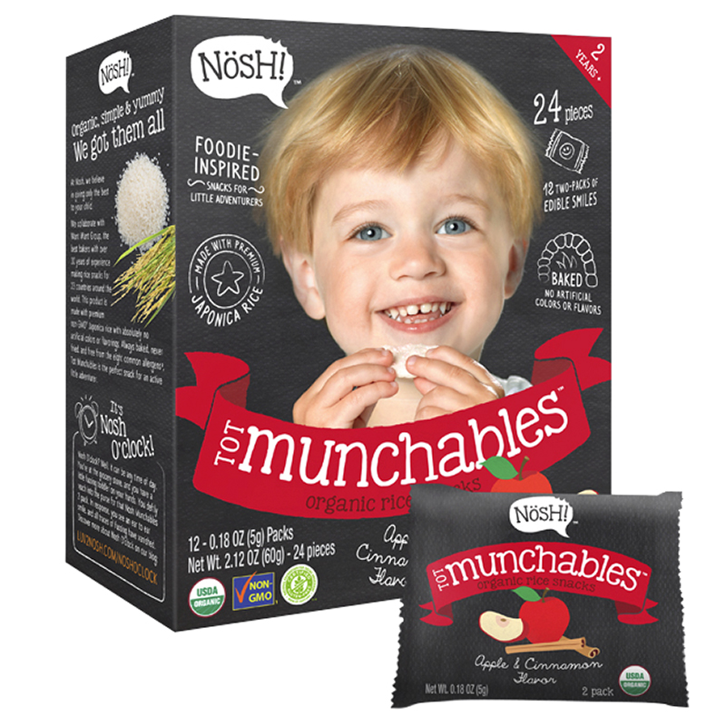 Nosh Tot Munchables - Apple + Cinnamon  - 60g/24 Wafers