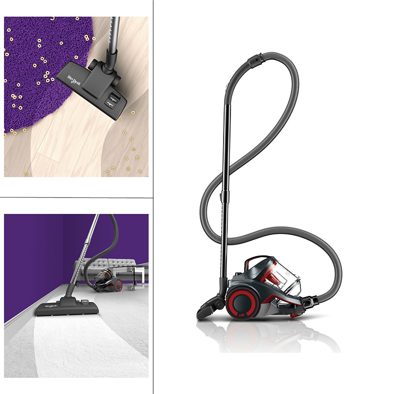 Dirt Devil Dash Bagless Canister Vacuum with Vac&Dust - Black/Red - SD40050BCA