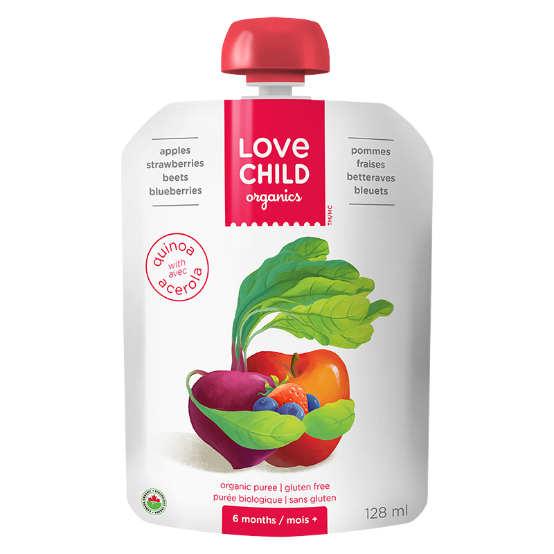 Love Child Apples, Strawberry, Beets and Blueberries - 128ml