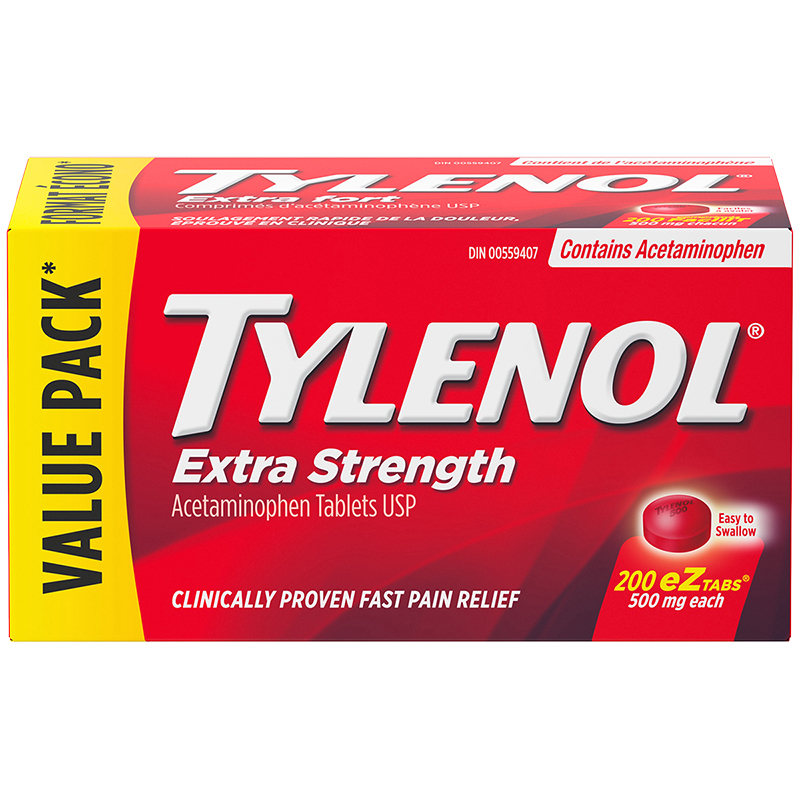 Tylenol Extra Strength Acetaminophen Tablets 500mg - 200's
