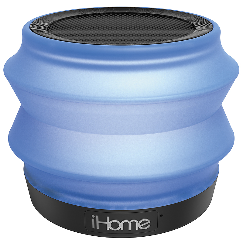 iHome Collapsible Bluetooth Light-Up Speaker - Blue - IBT620LLC