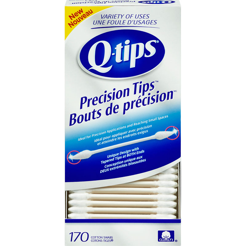 Q-Tips Precision Tips Cotton Swabs - 170's