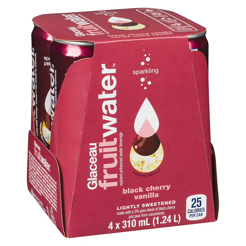 Glaceau FruitWater - Black Cherry Vanilla - 4 x 310ml