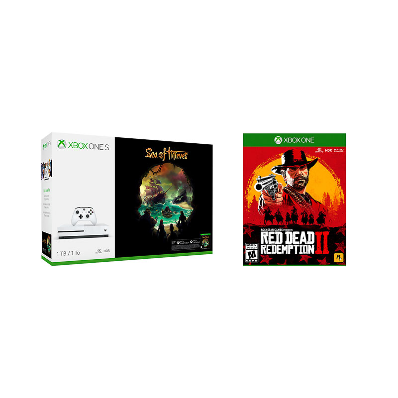Xbox One S 1TB Console Sea of Thieves Bundle with Red Dead Redemption 2 - PKG #13793