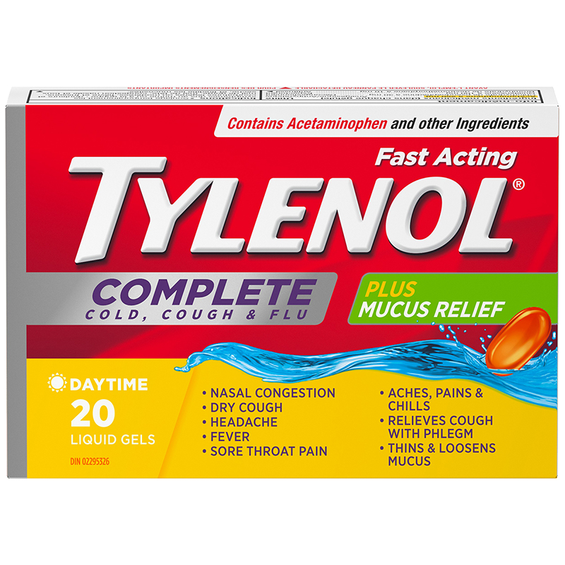 Tylenol* Complete Cold Cough & Flu Liquid Gels - 20's