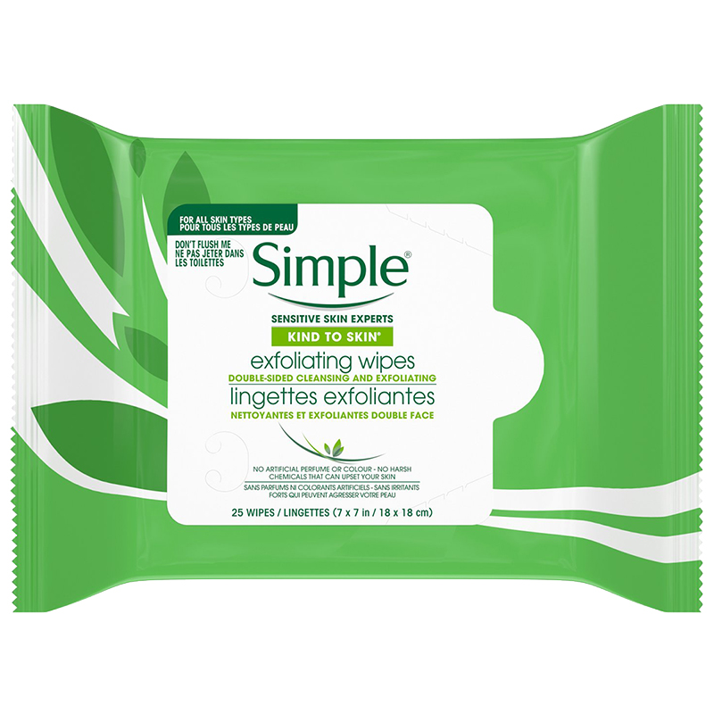 Simple Kind to SkinEyes Exfoliating Facial Wipes - 25's