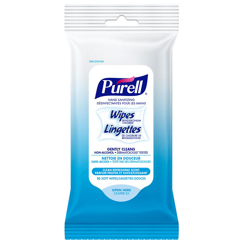 Purell Hand Sanitizing Wipes - 10's