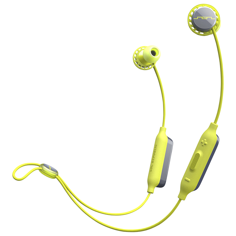 Sol Republic Relays Sport Bluetooth Earbuds - Lime - SOLEP1170LM