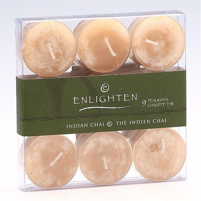 Enlighten Tealights - Indian Chai - 9 pack