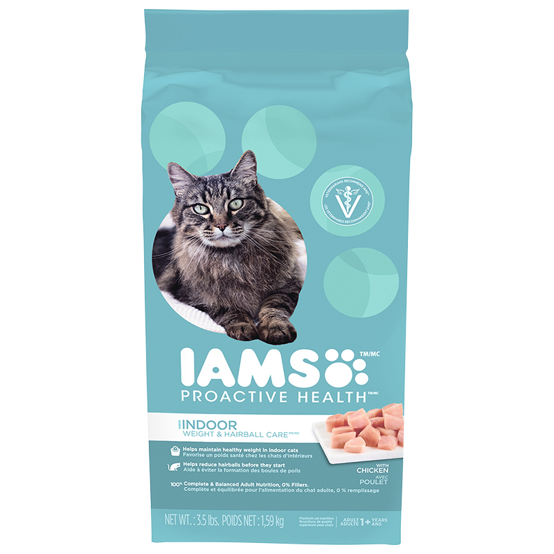 Iams Proactive Health Weight and Hairball Care Cat Food - 1.59kg
