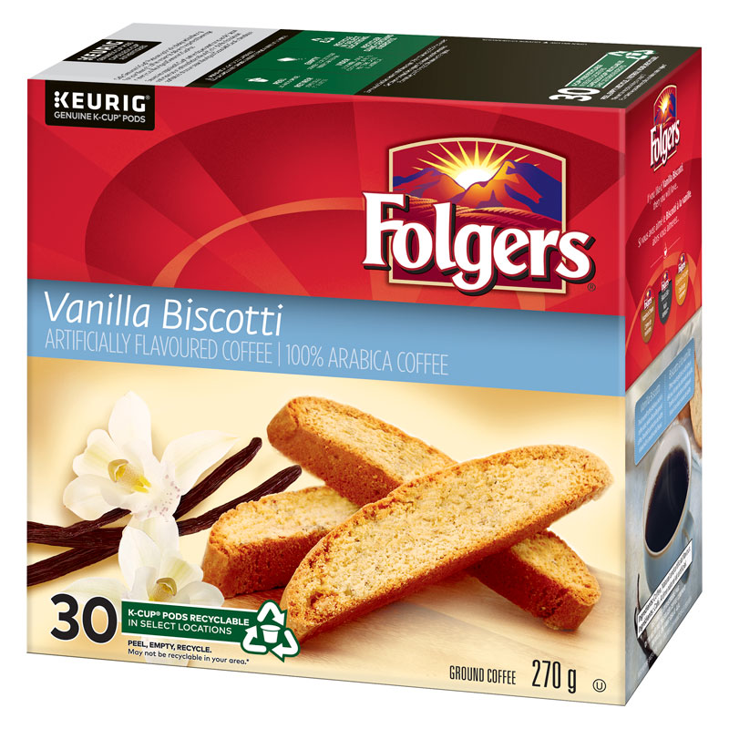 Folgers K-Cup Coffee - Vanilla Biscotti  - 30 servings