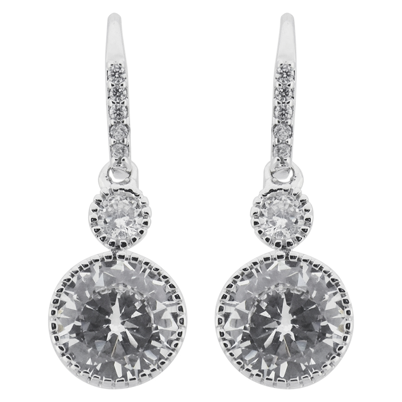 Puccini Cubic Zirconia Pave Drop Earring Set