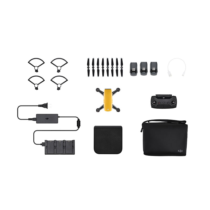 DJI Spark Fly More Combo and Battery Bundle - Yellow - PKG #25560