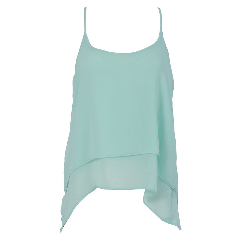 Lava High-Low Tank Top - Bright Mint