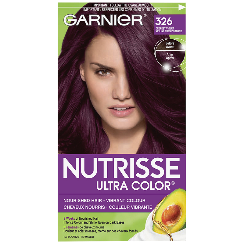 Garnier Nutrisse Ultra Color Permanent Hair Colour - 326 Deepest Violet