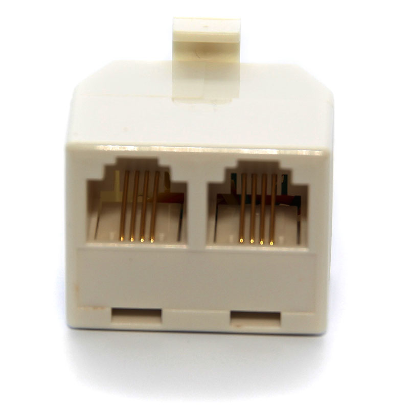 UltraLink Telephone Duplex Jack Adapter - White - UHS62WH
