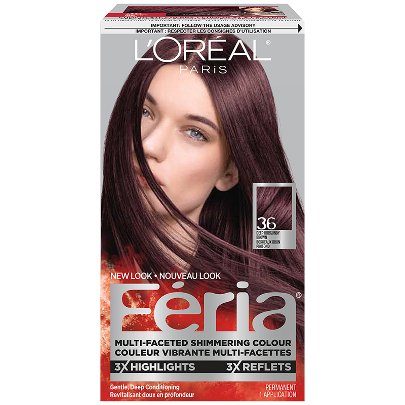 Loreal Feria Hair Colour 36 Deep Burgundy Brown London Drugs