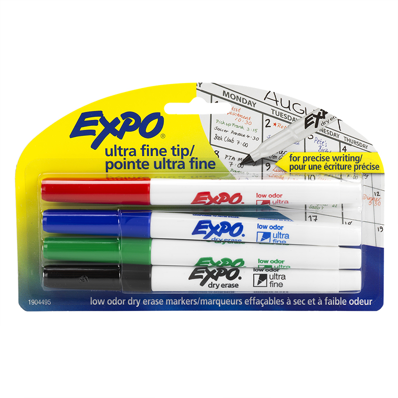 Expo Ultra Fine - Assorted - 4 Pack