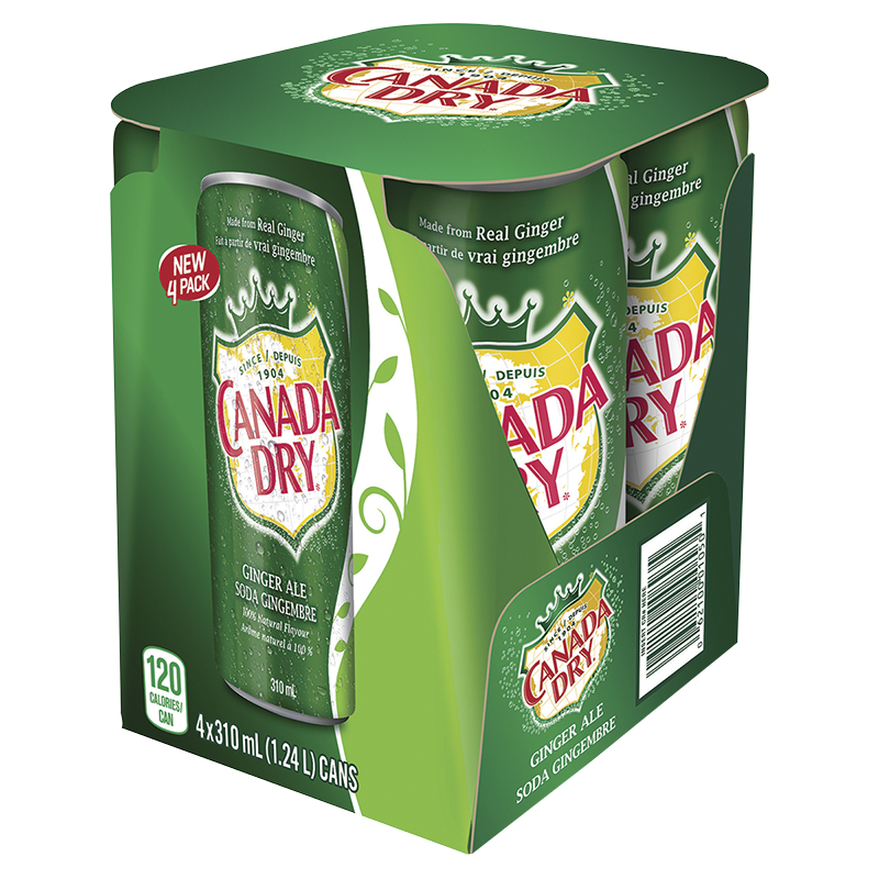 CANADA DRY GINGER ALE        4X310ML