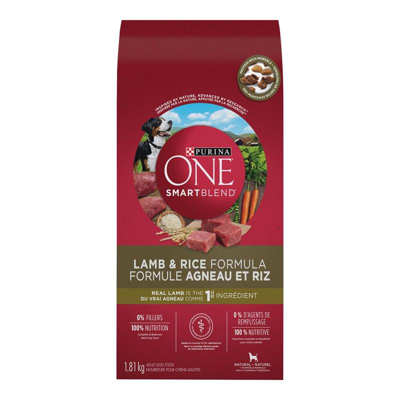 Purina One Smart Blend Dog Food Lamb Rice 1 81kg