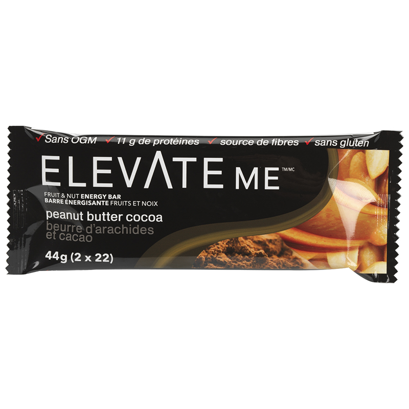Elevate Me Bar Fruit & Nut Energy Bar - Peanut Butter Cocoa - 44g