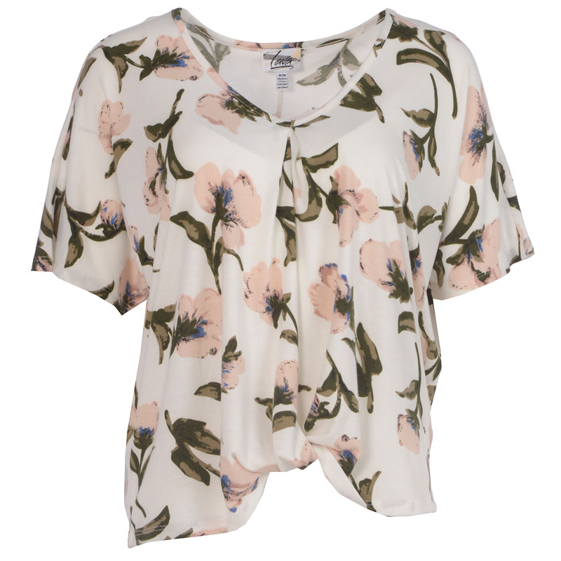 Lava Floral Knit Top - White