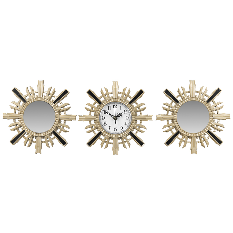 London Drugs Wall Mirror Clock - Sun - Set of 3