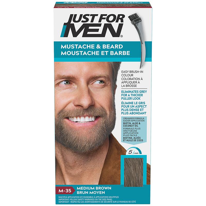 Just for Men Mustache and Beard Facial Hair Colouring - Medium Brown