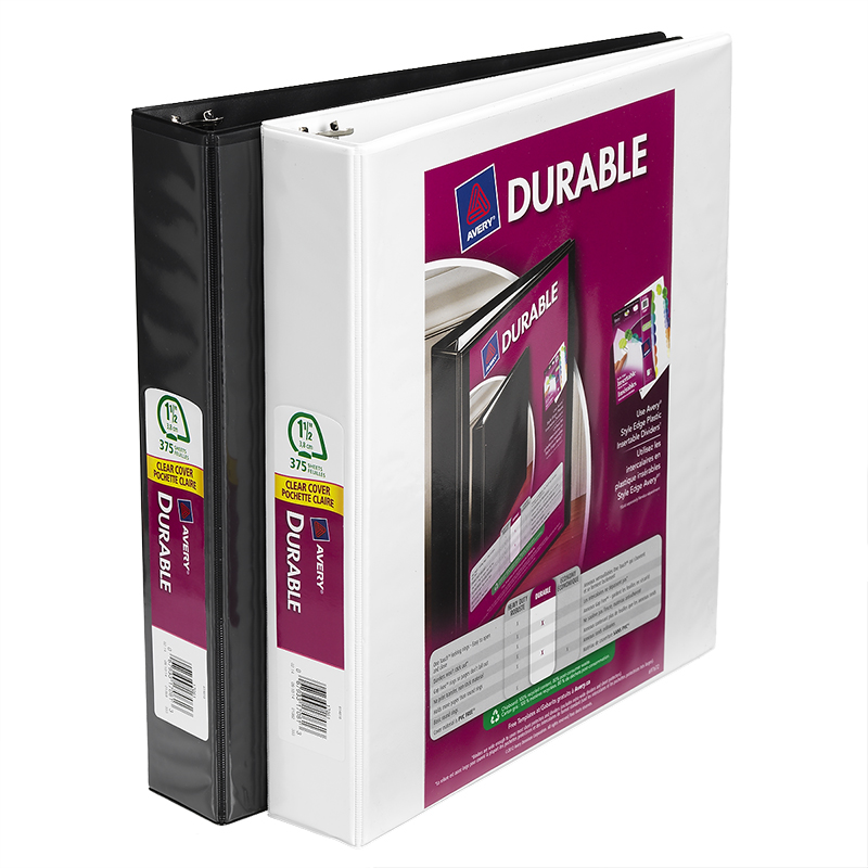 Avery Durable View Binder - Assorted - 1.5""