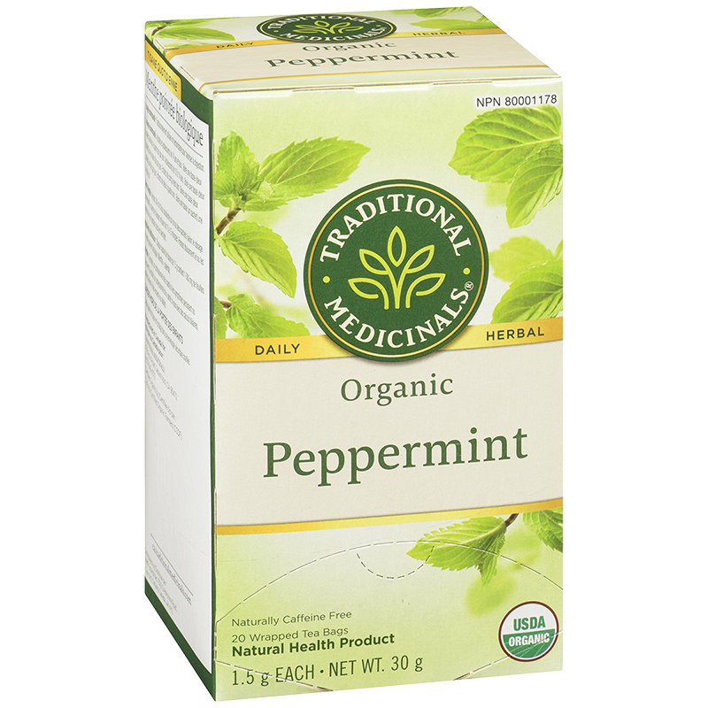 Traditional Medicinals Herbal Tea - Organic Peppermint - 20's