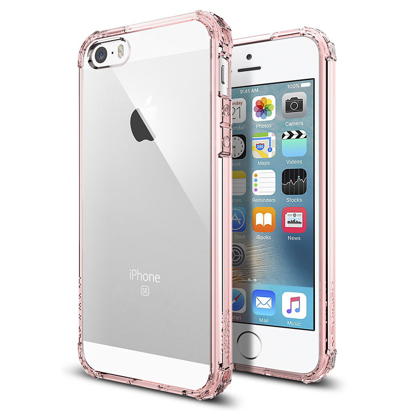 Spigen Crystal Shell Case for iPhone SE - Rose Crystal - SGP041CS20178