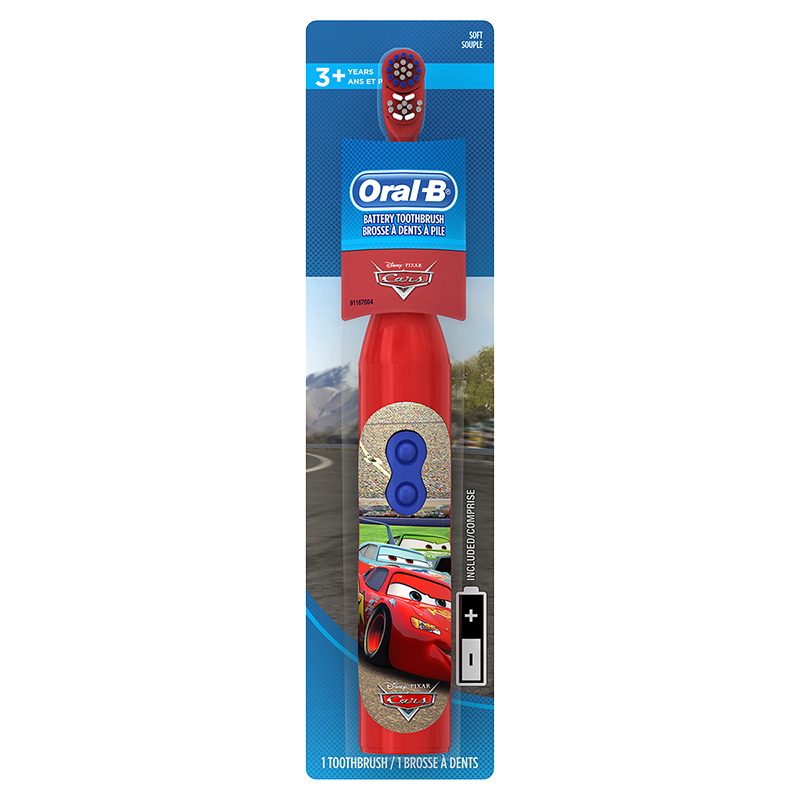Oral-B Battery Operated Toothbrush Cars - Soft -12620