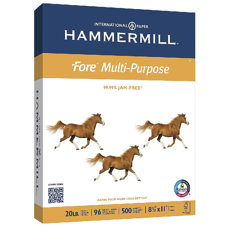 Hammermill Fore 96 Bright Printer Paper - 8.5 x 11 inch - 10 pack - 5000 Sheets