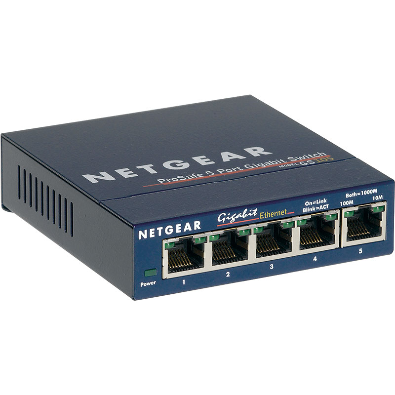 Netgear ProSAFE 5-Port Gigabit Desktop Switch - GS105