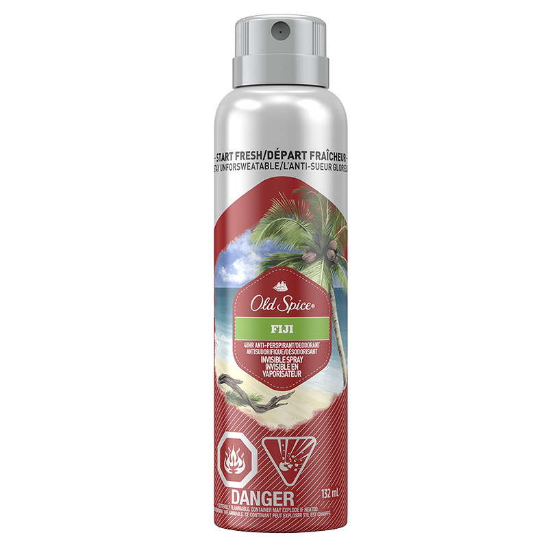 Old Spice Invisible Spray Antiperspirant - Fiji - 132ml