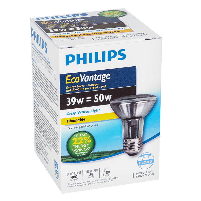 Philips Halogen Par20 Spot Light - Crisp White - 39w