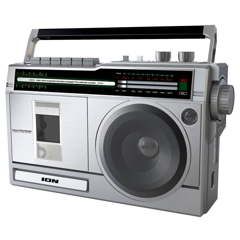 Ion Retro Rocker Boombox - Silver - ISP113S