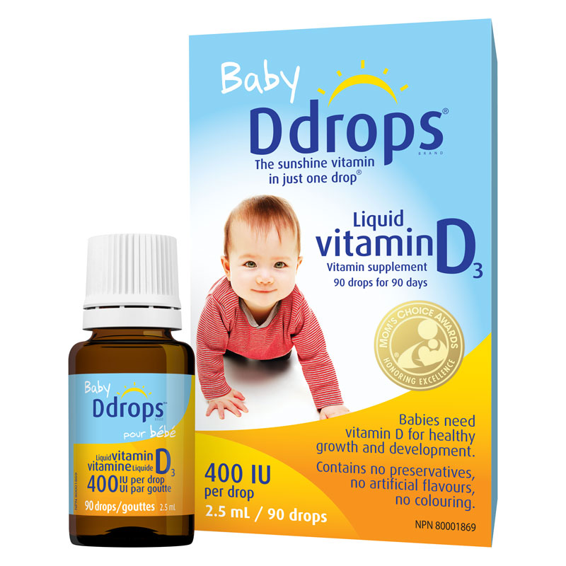 Ddrops Baby Liquid Vitamin D 400iu 90 Drops London Drugs