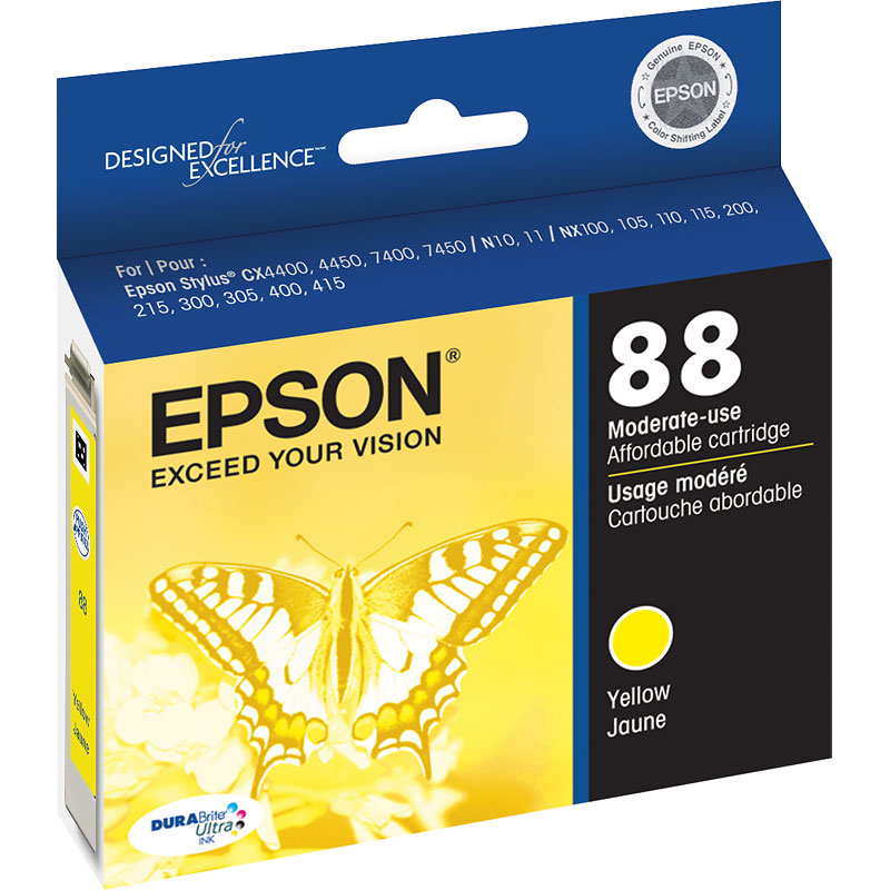 Epson Durabrite Ultra Ink 88 Moderate-Use Ink Cartridge