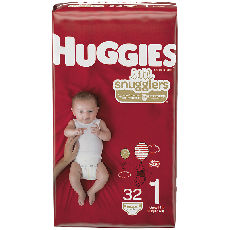 Huggies Little Snugglers Diapers - Size 1 - 32's