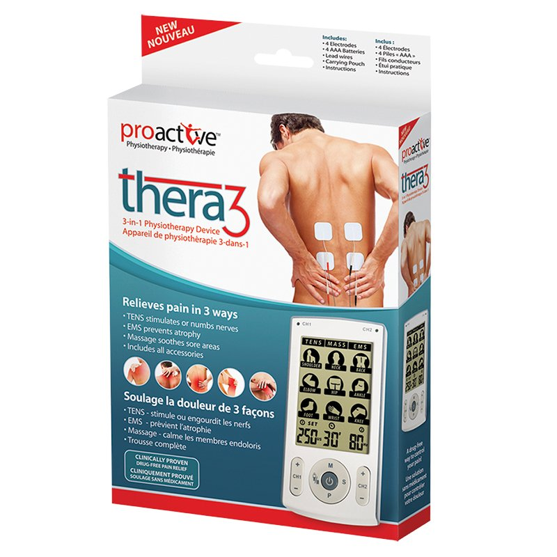 ProActive Thera3 TENS 3-in-1 Physiotherapy Device - 715-430