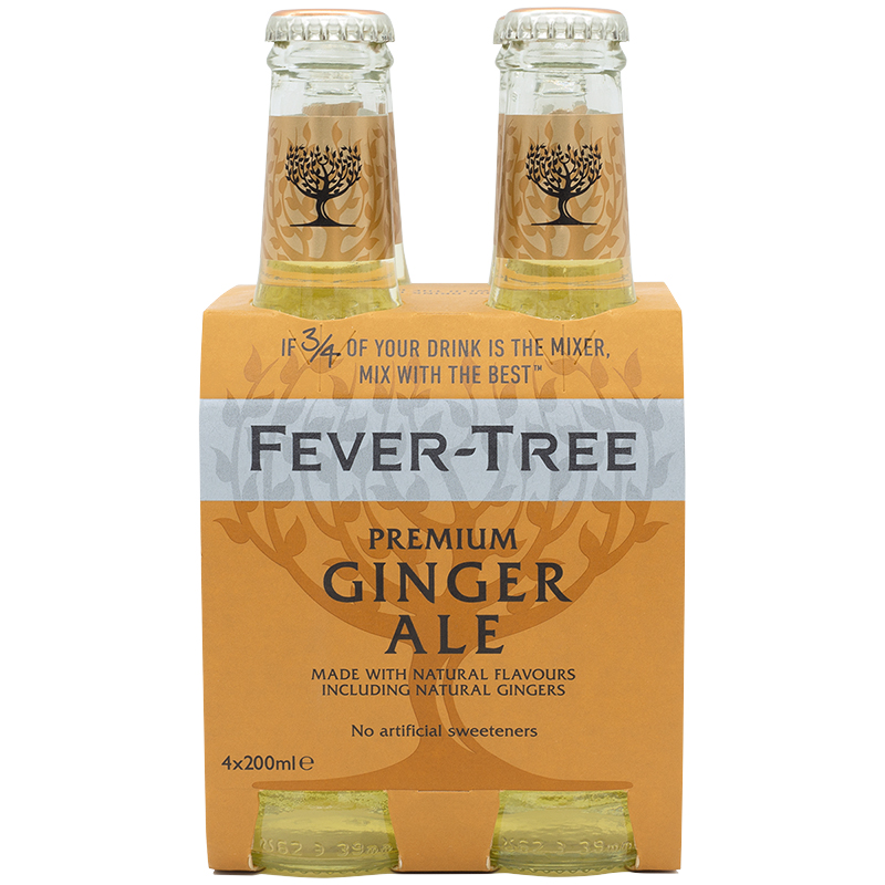Fever-Tree Ginger Ale - 4x200ml