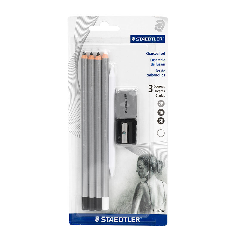 Staedtler Charcoal Pencil Set - 7 piece
