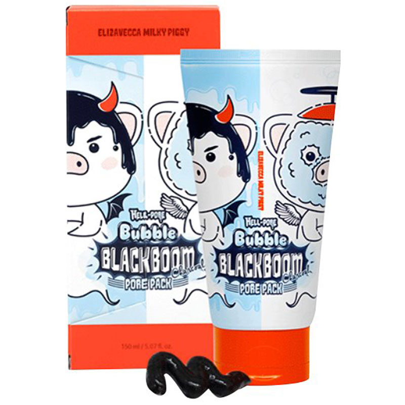 Elizavecca Milky Piggy Hell-Pore Bubble Black Boom Pore Pack Charcoal Mask - 150ml