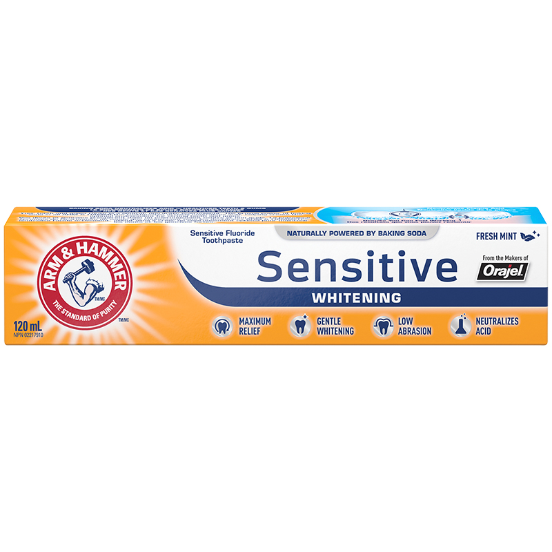 Arm & Hammer Pro Sensitive Whitening Toothpaste - Frosted Mint - 120ml