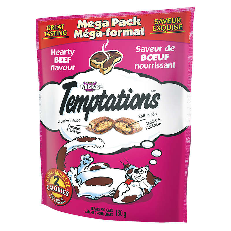Whiskas Temptations Mega Pack - Hearty Beef - 180g