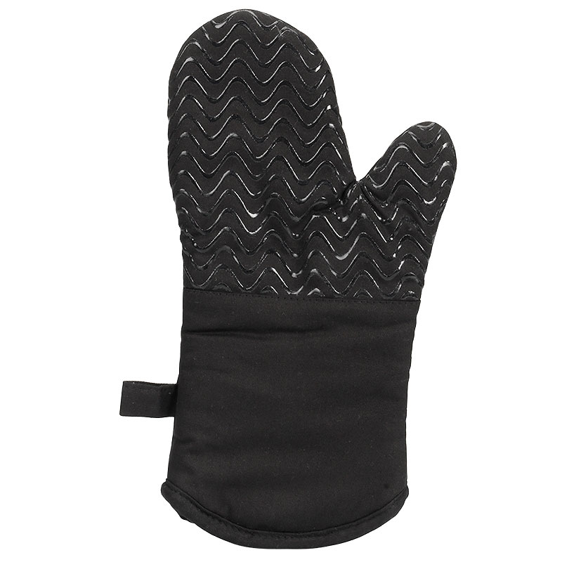 Boutique Silicone Oven Mitts - Black - 2 pack