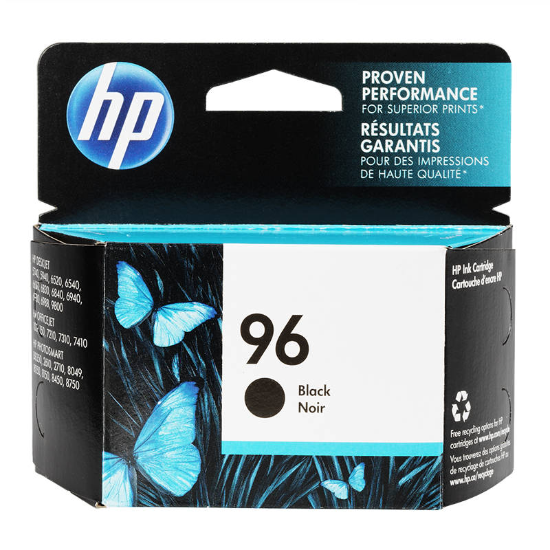 HP 96 Vivera Ink Cartridge - Black - C8767WN